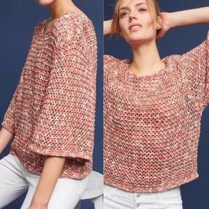 Anthropologie Moth Salina Open Weave Yarn Sweater